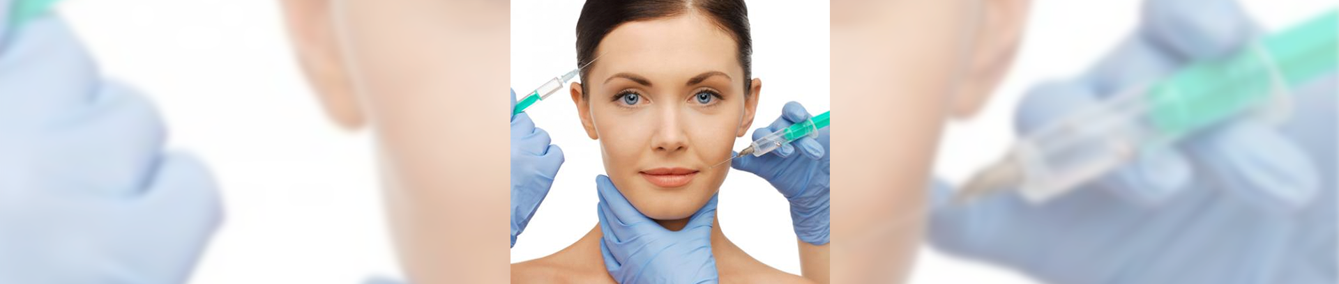 Injecting patient with botox