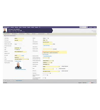 Example of Athena Health software