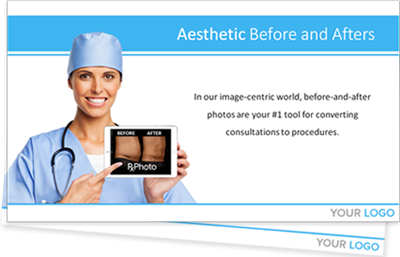 aesthetic before and afters photo in plastic surgery medical software