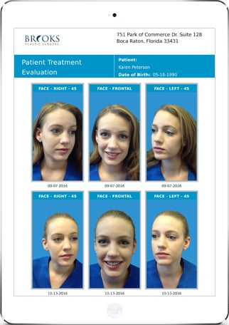 plastic surgery management software screenshot
