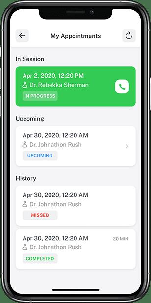 Custom scheduler for virtual consultations